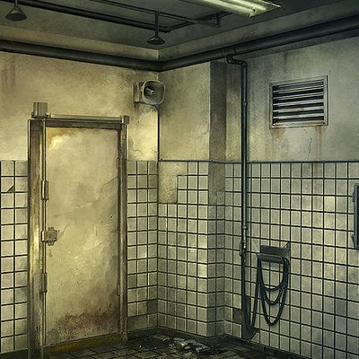 Adolfo navarro shower room asylum lords of shadow 2