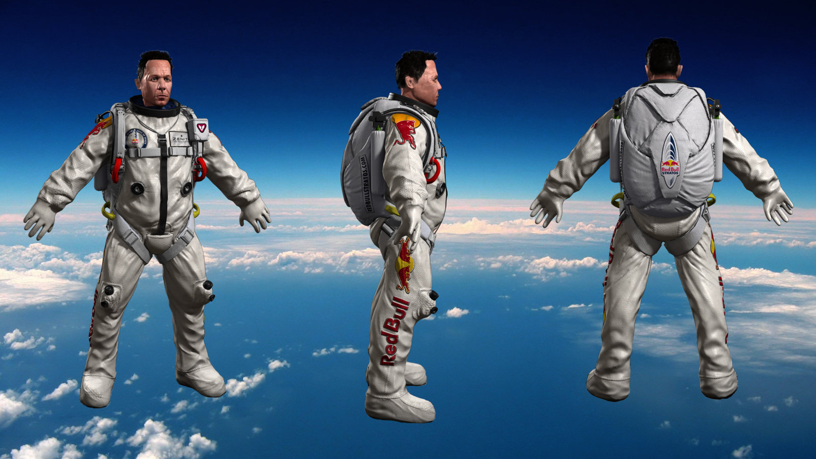 ArtStation Red Bull Stratos Felix Baumgartner Tan Wei Han
