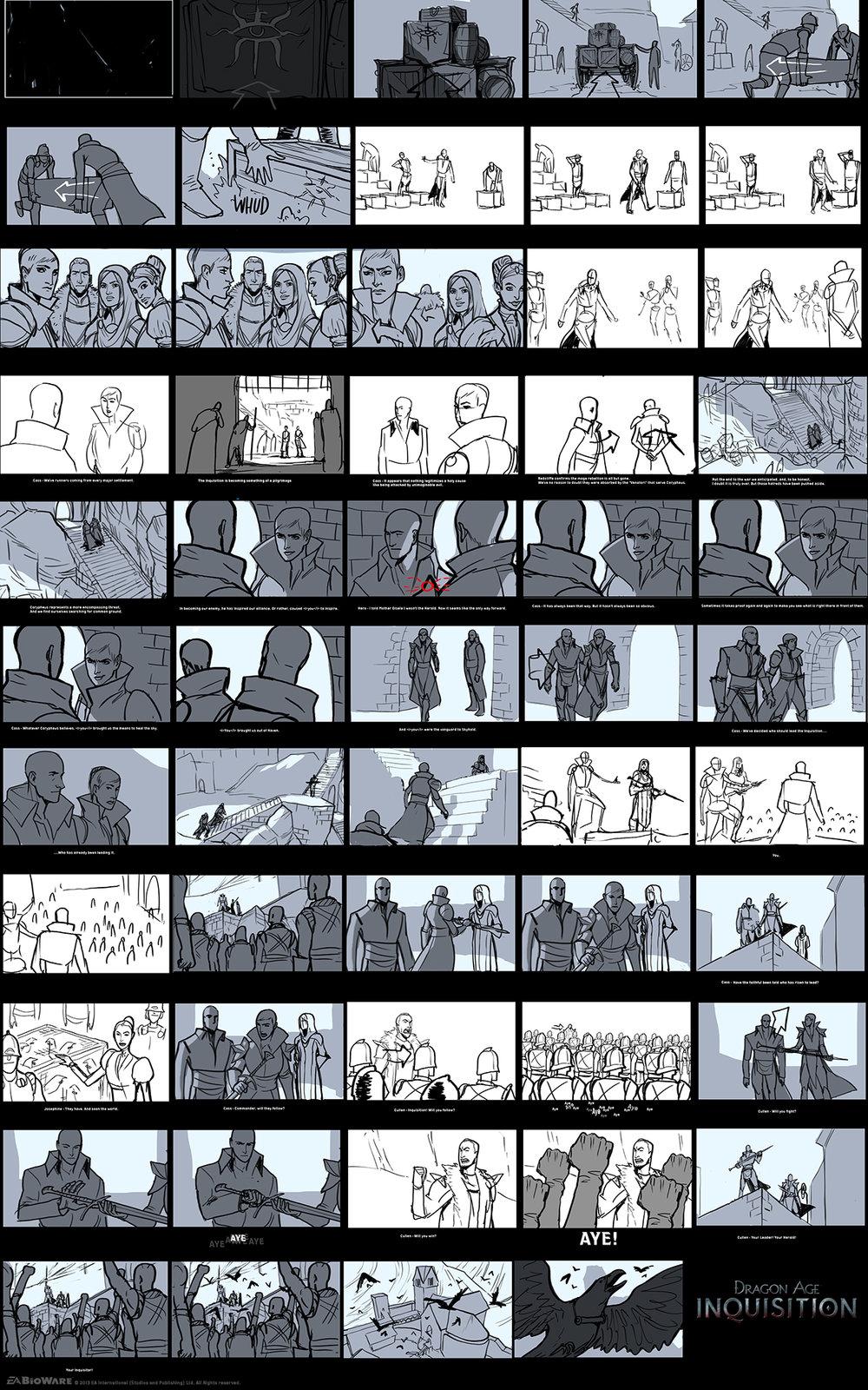 DA:I - Storyboard for the Coronation