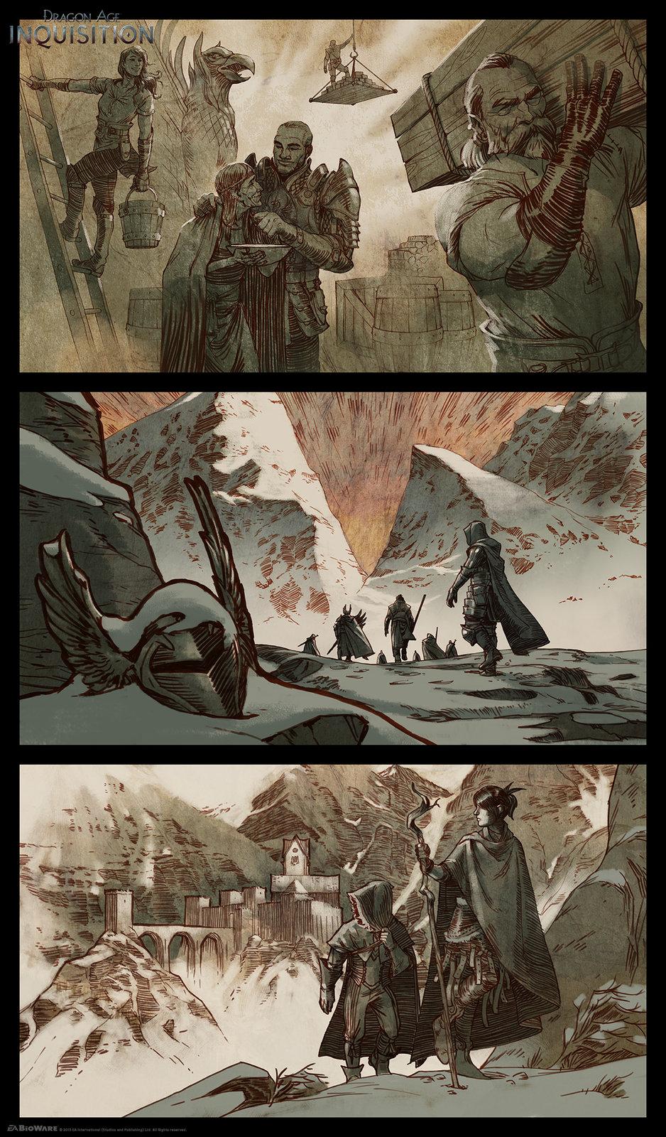 DA:I - Story Illustrations