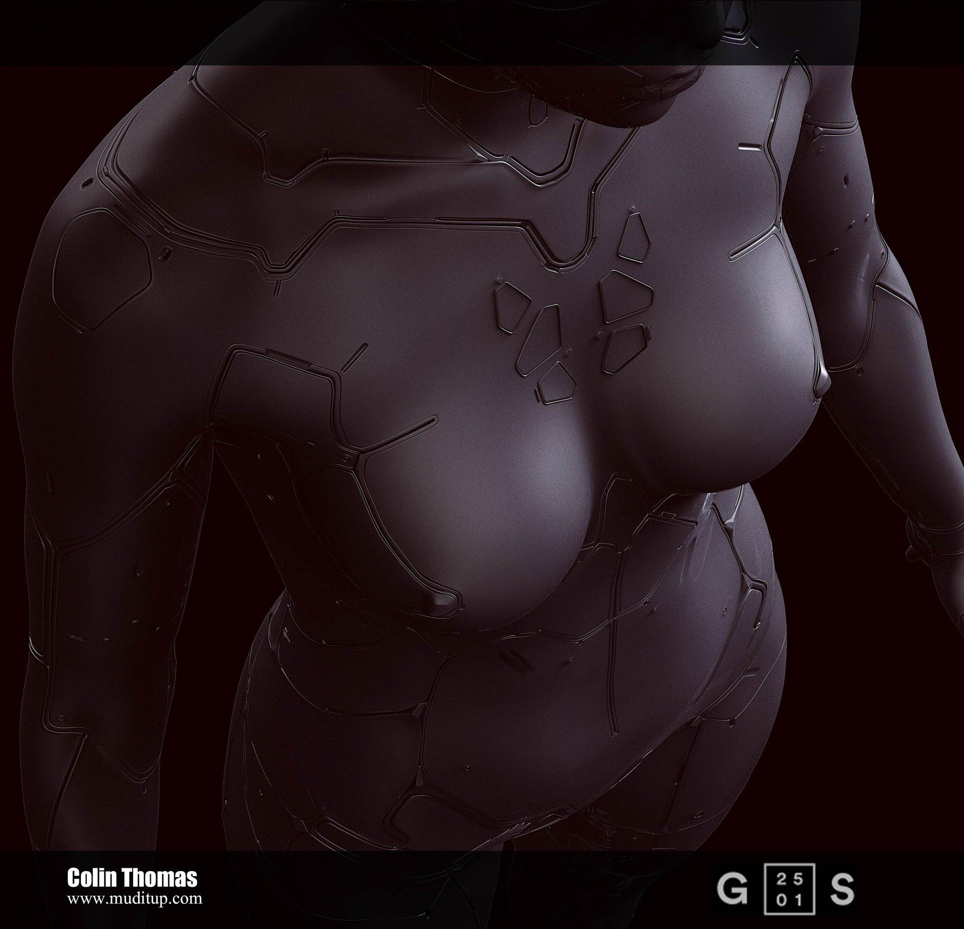 Artstation Ghost In The Shell Cyborg Body Colin Thomas