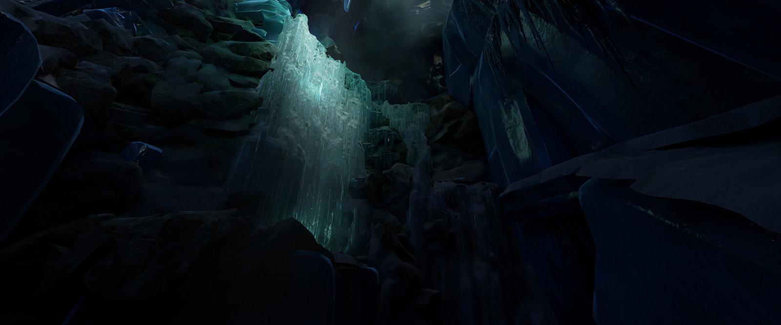 Level art, Light artist, Modelling rocks and Frozen fall