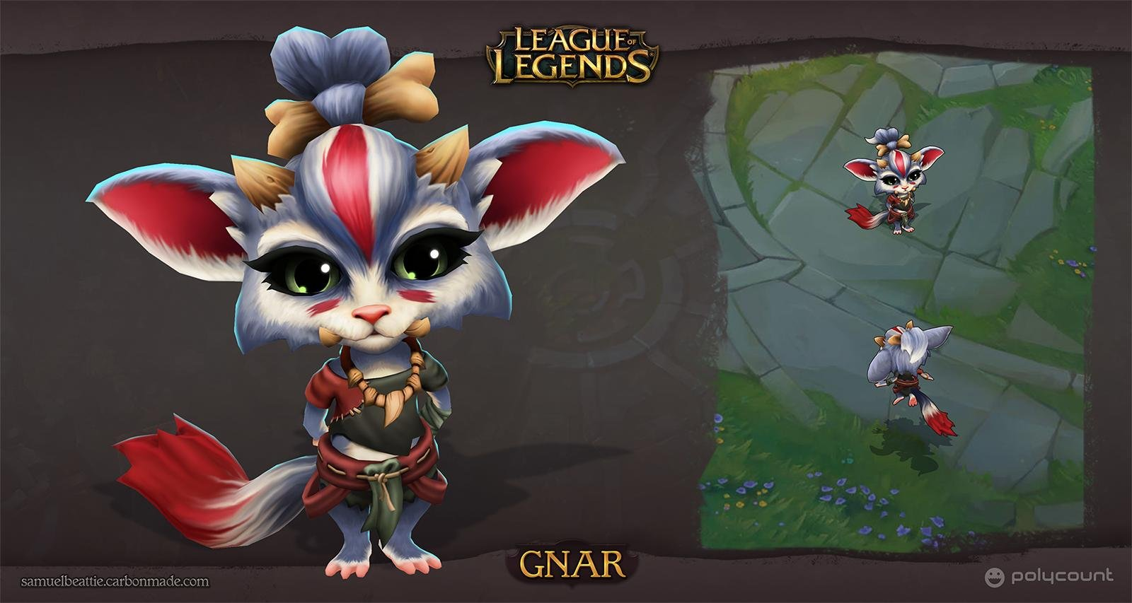 ArtStation - League of Legends - Gnar, Sam Beattie