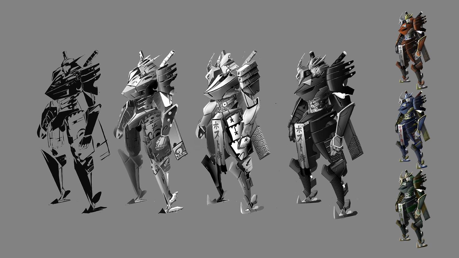 Samurai Robot exploration with final design