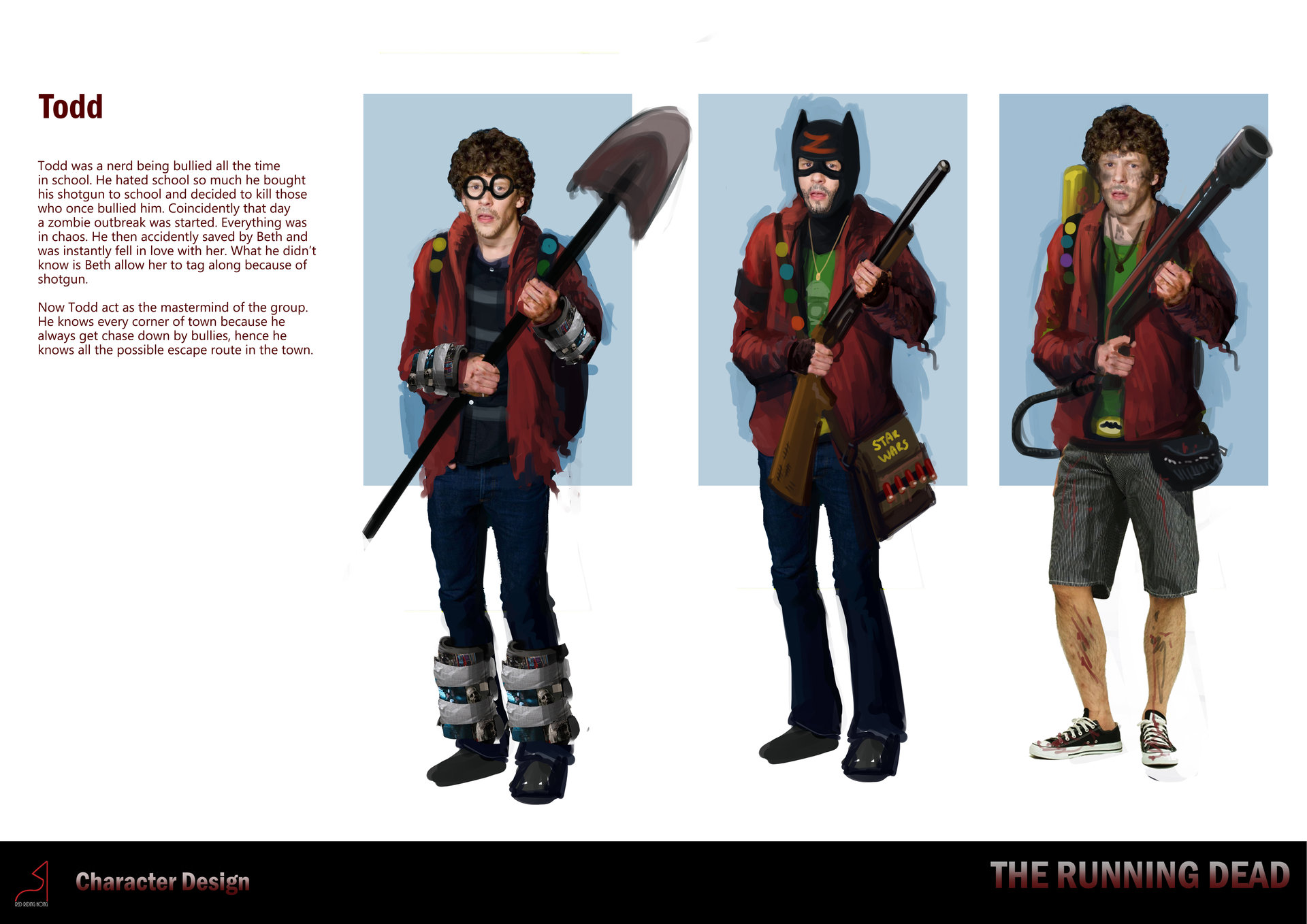 Character Design Zombie : Siewhong lum the running dead