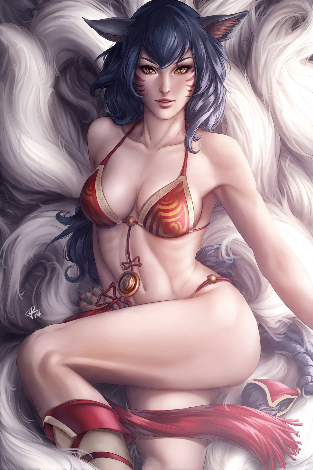 Artstation - Ahri, Aiva Blue-5838
