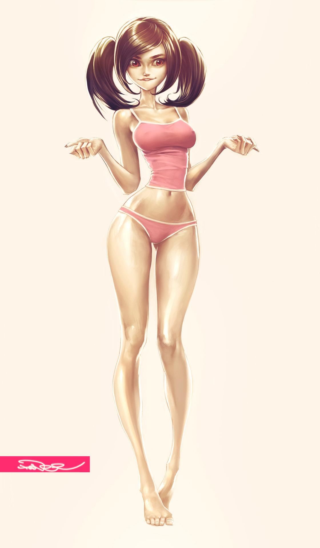 Artstation - Light Sexy Girl, Nicolai Tudi-4575