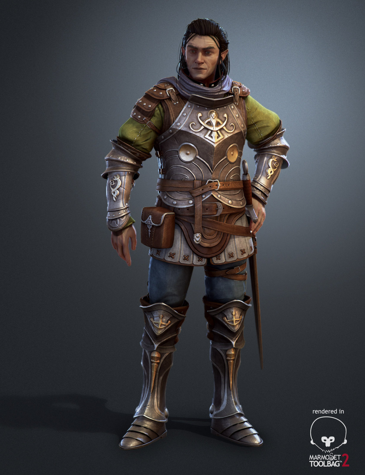 Elfe Warrior Marmoset Render