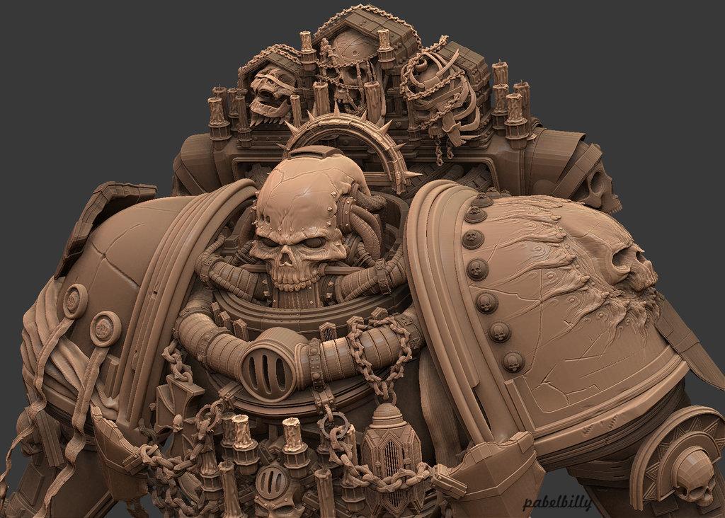 Space Marine Chaplain Art