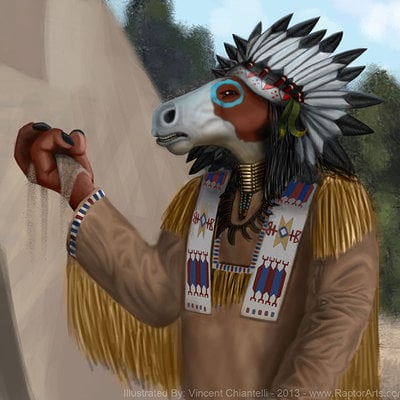 Vincent chiantelli equine anthro lakota wip by raptorarts d6w3lyy 1