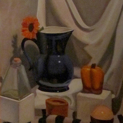 Vincent chiantelli stilllifebluevaseoils