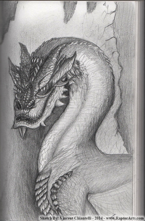 Vincent chiantelli smaugsketch2014 by raptorarts d72iasg