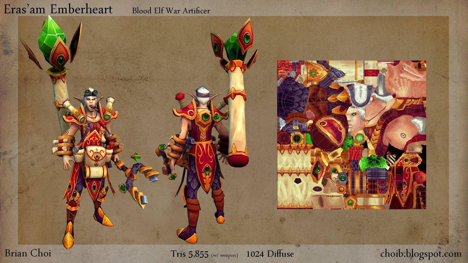 Erasam Emberheart, Blood Elf War Artificer