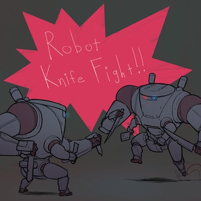 Ian jacobson robot knife fight