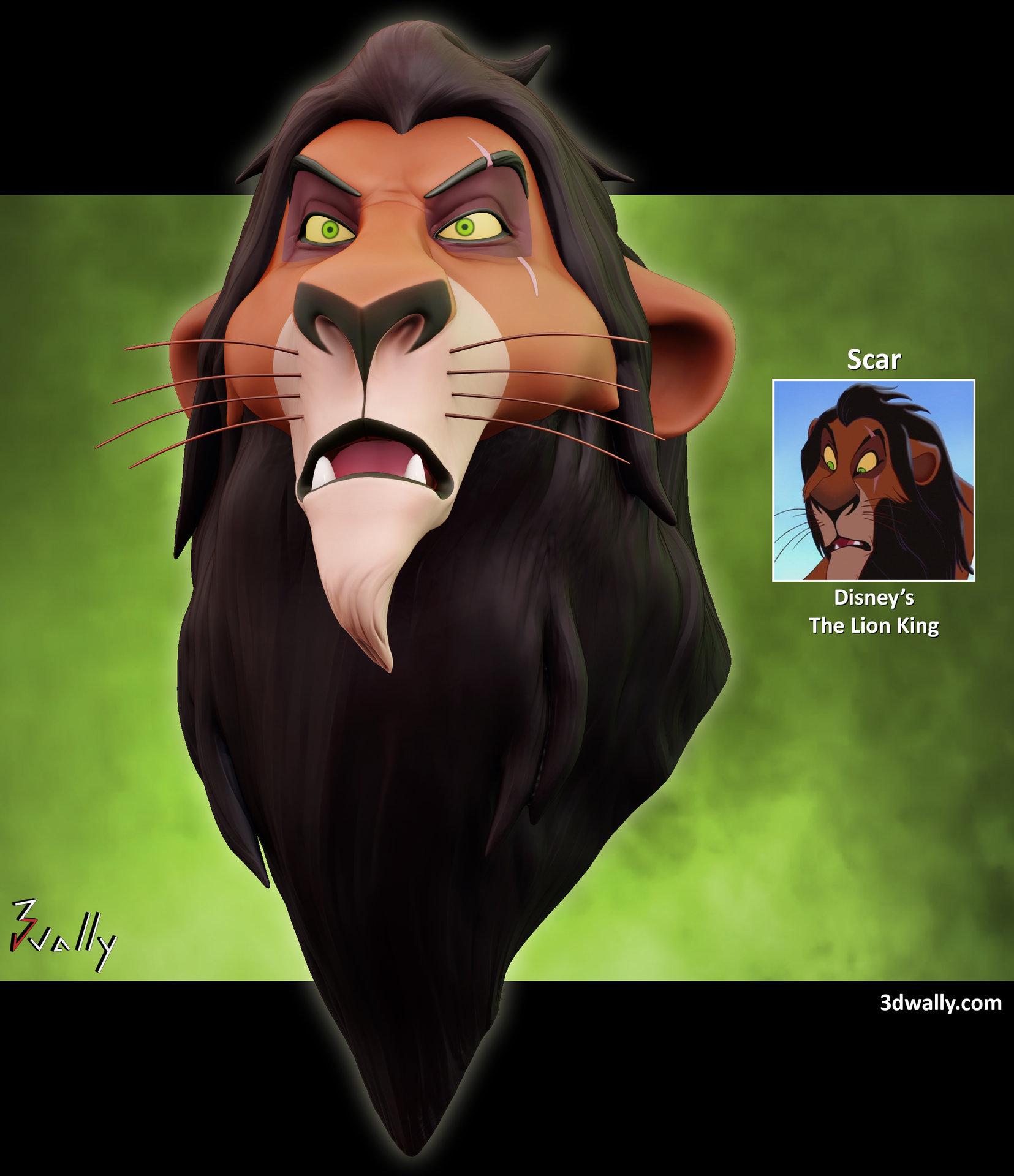 artstation scar disney s the lion king adewale haroun