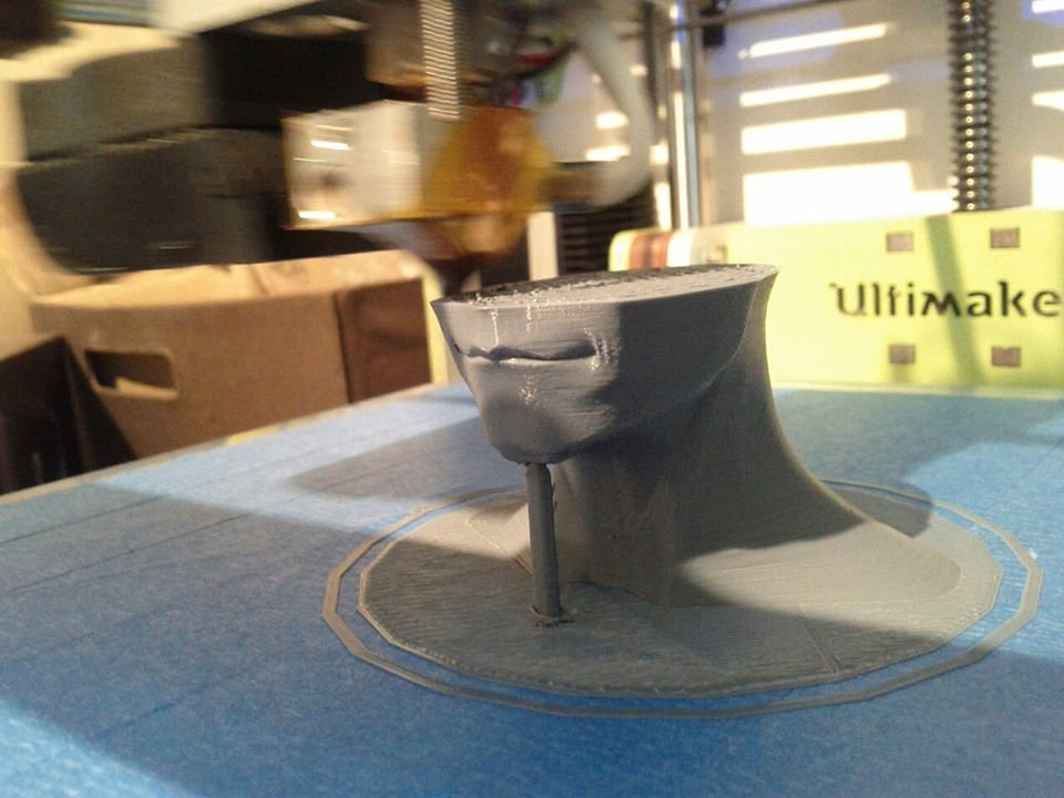 Printing on an Ultimaker,  first generation, 3 years later