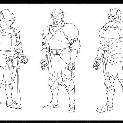 John derek murphy armor concept sketches