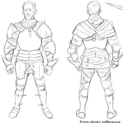 John derek murphy armor rotation sketch