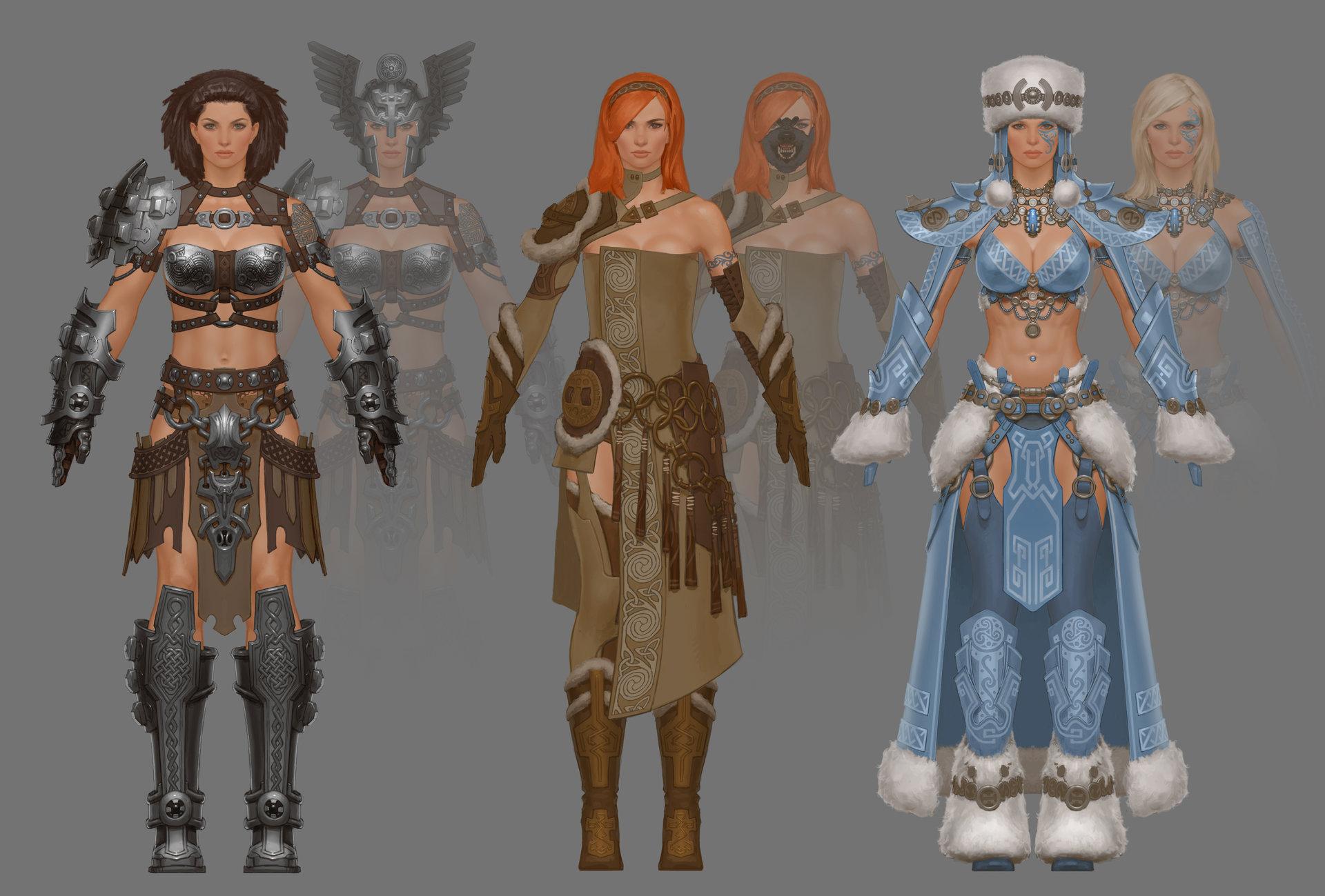 ArtStation - Guild Wars 2 female Warrior, Aaron Coberly