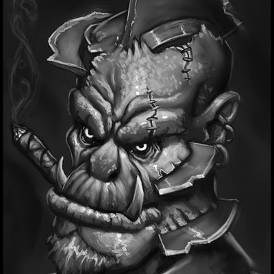 Travis lacey gangsta orc demon troll angry travis lacey mob