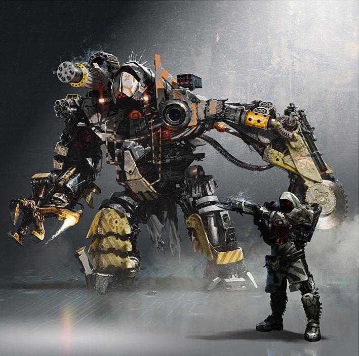 Concept Mech with heavy Alien