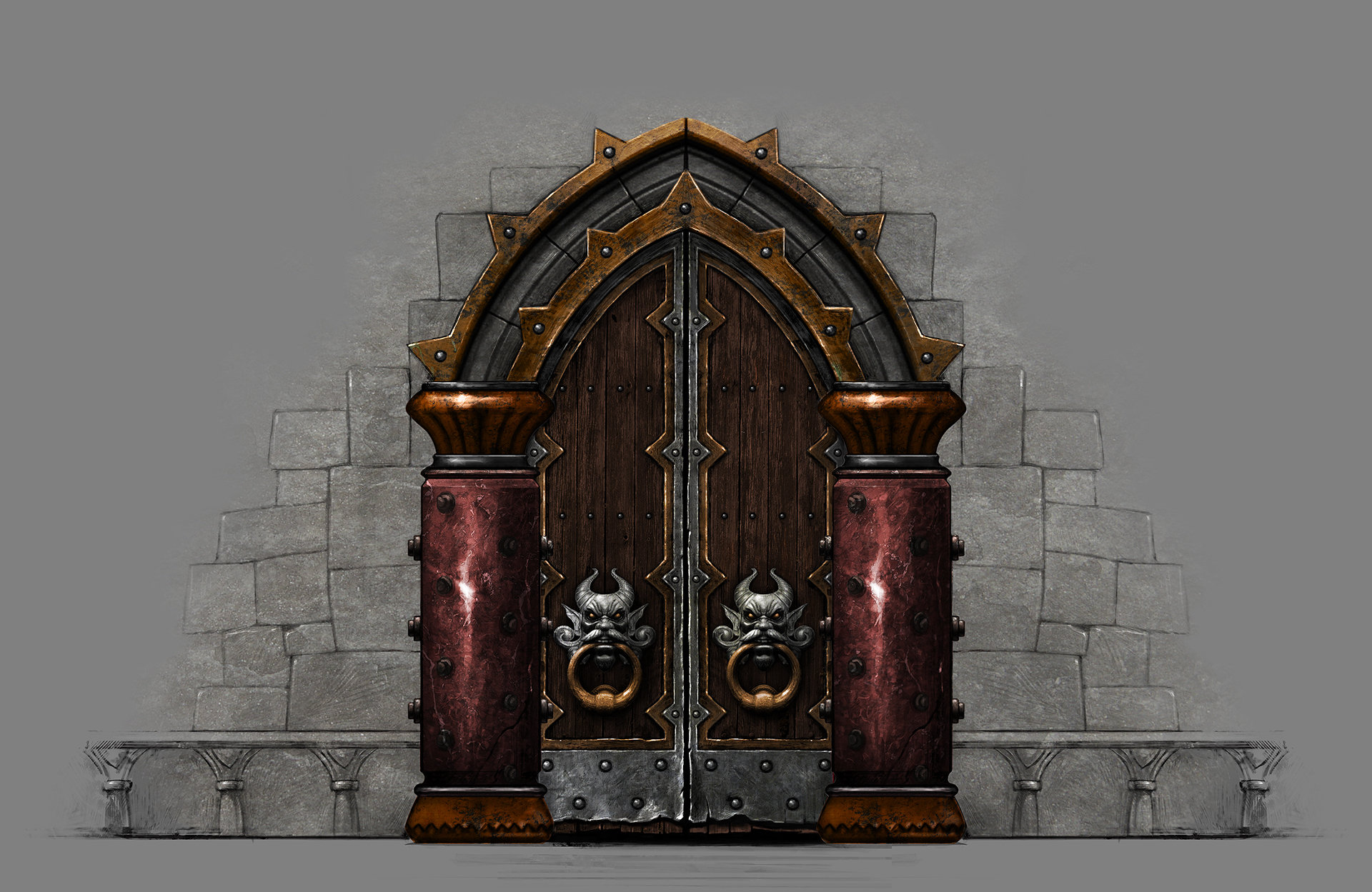 Scroll to see more & ArtStation - Castle Door Daniel Jiménez Villalba