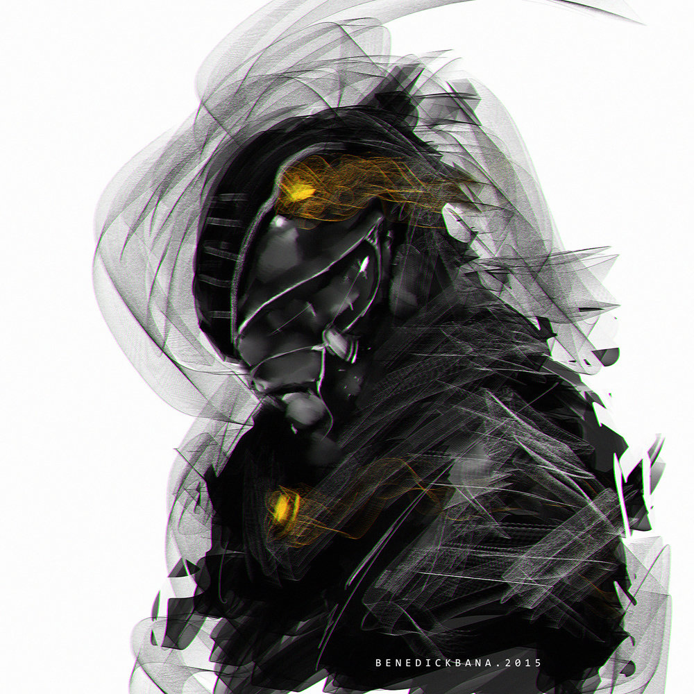 30mins SpeedPaint Power Ranger Black