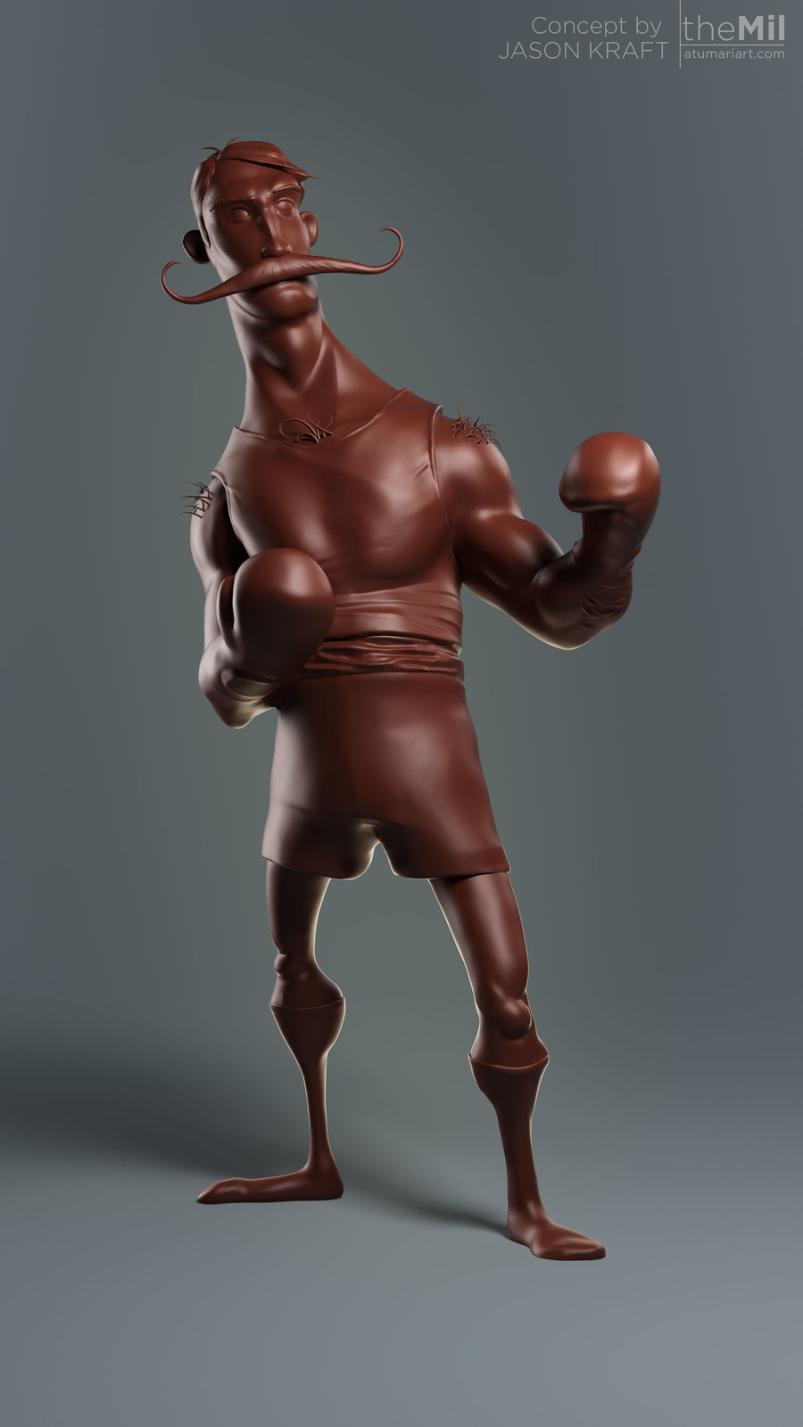 Boxer - Zbrush Sketch