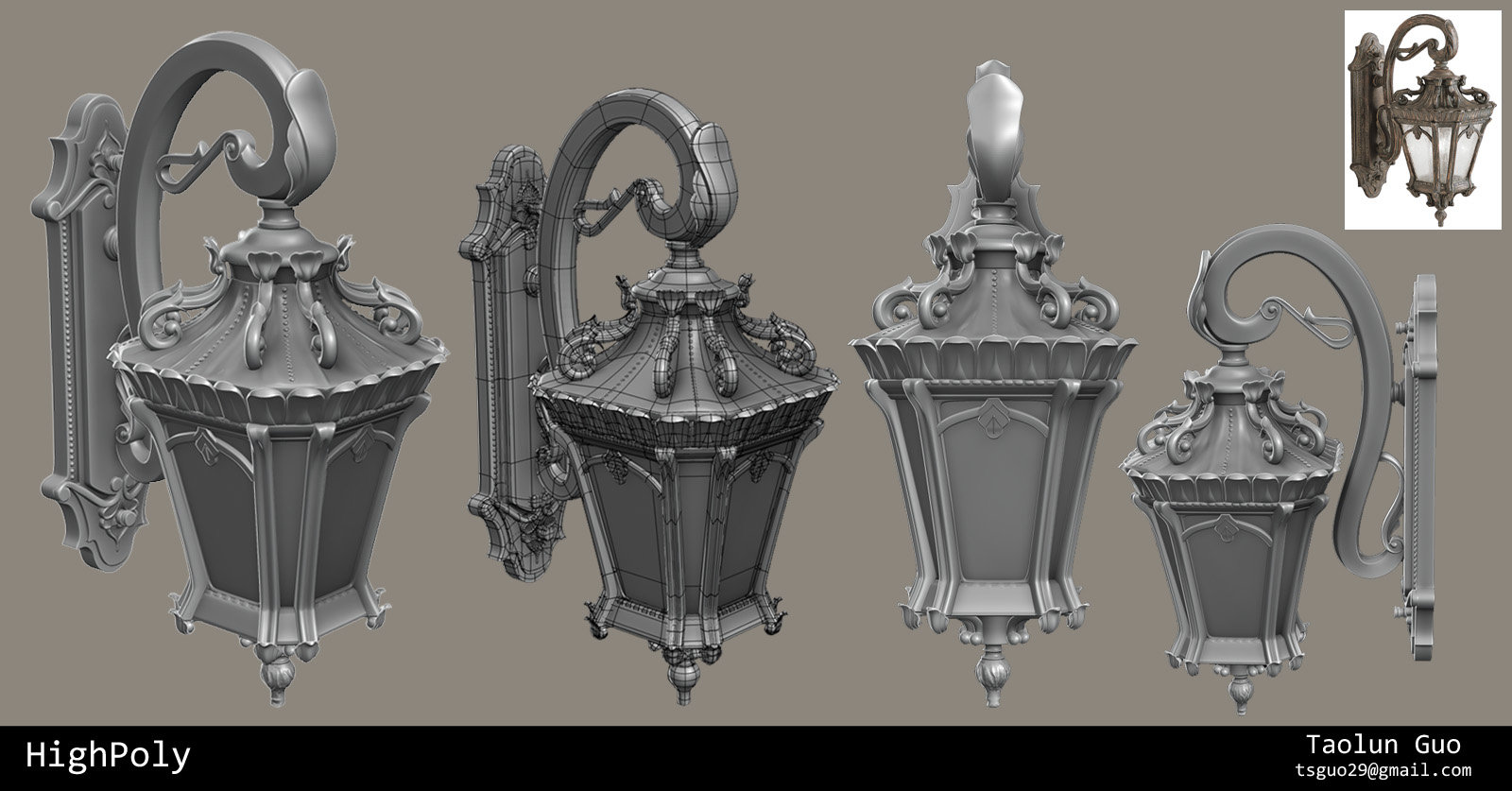 Artstation victorian wall light taolun guo victorian wall light highpoly aloadofball Images
