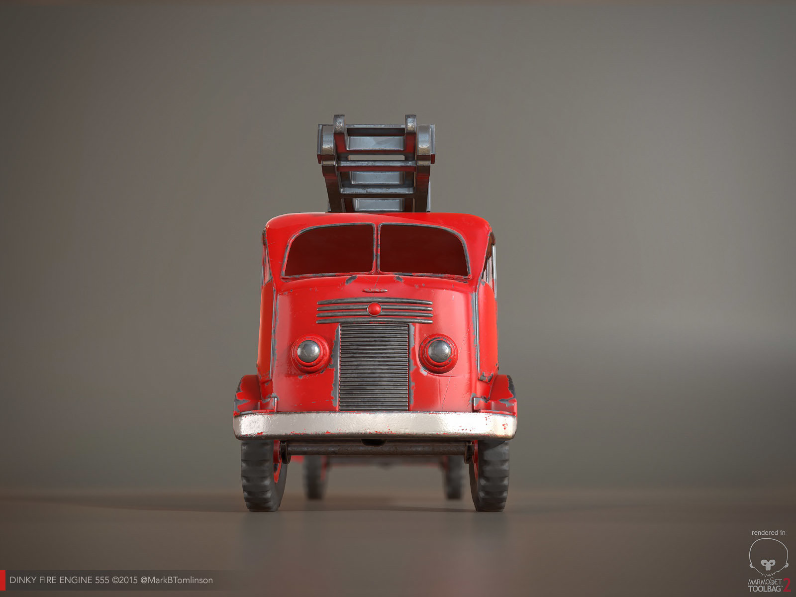 Dinky Fire Engine 555