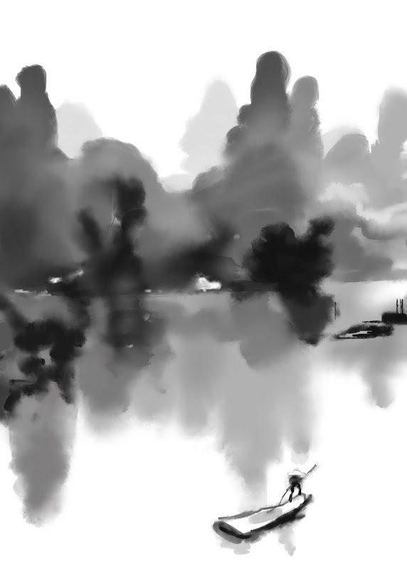 Silstar Brush Ink Wash Painting W Procreate Digital