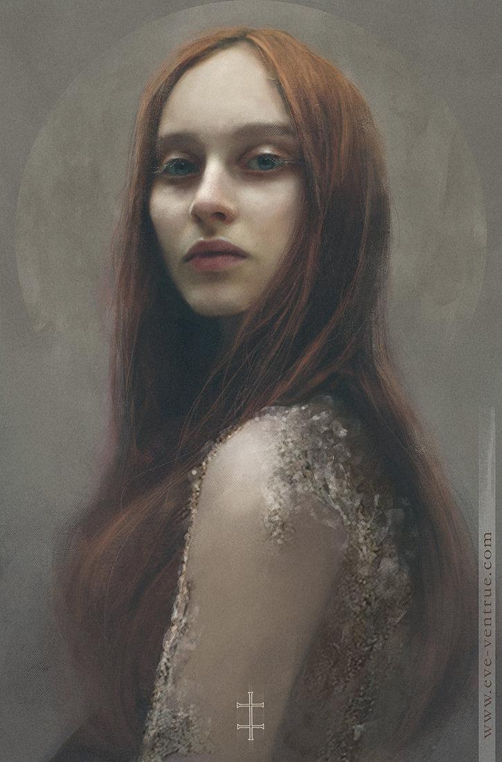 Eve ventrue red portrait