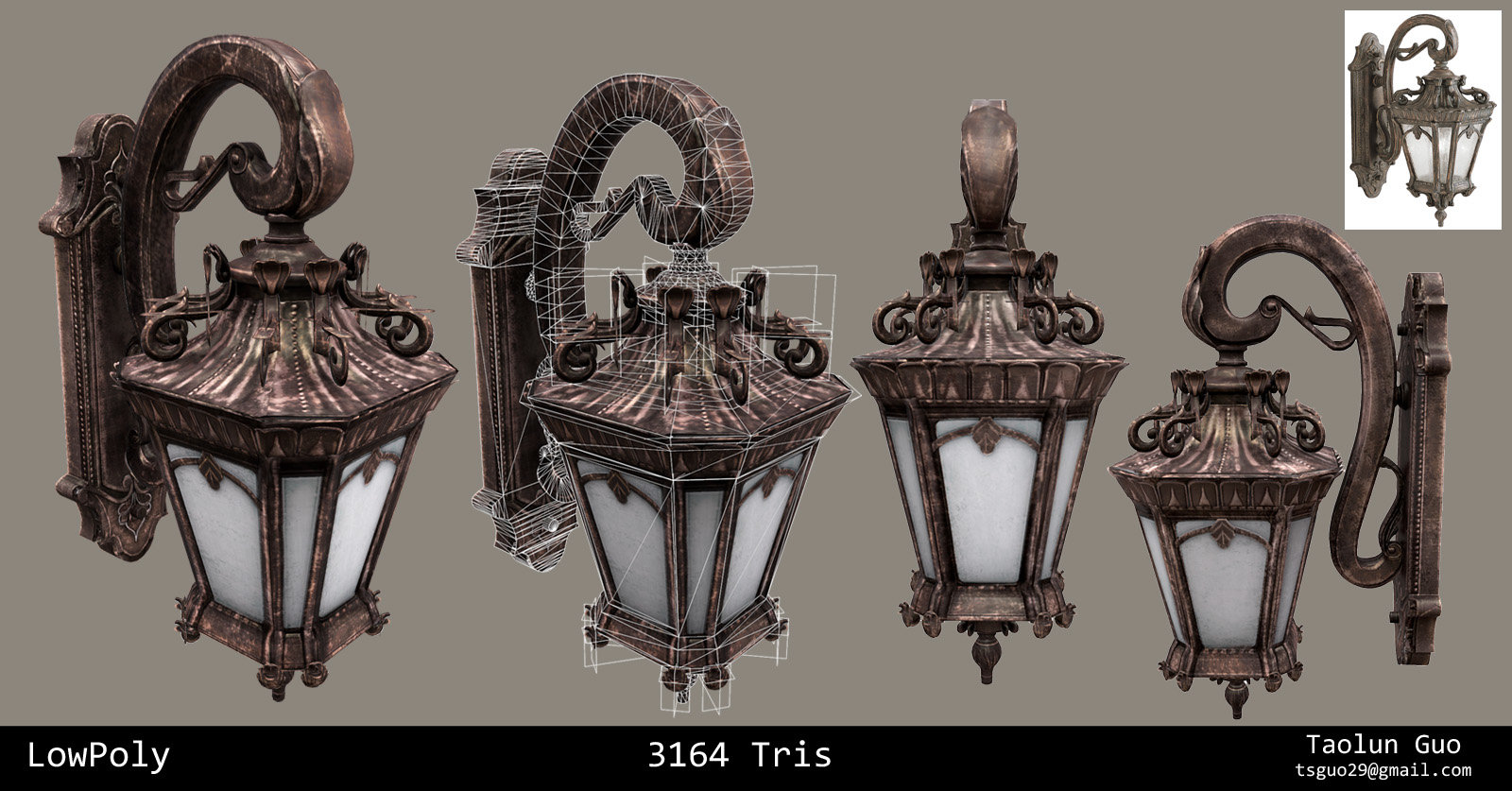 Artstation victorian wall light taolun guo victorian wall light lowpoly aloadofball Images