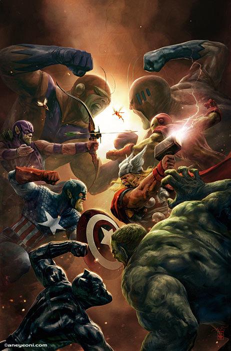 Artstation Marvel New Avengers 4 Aleksi Briclot