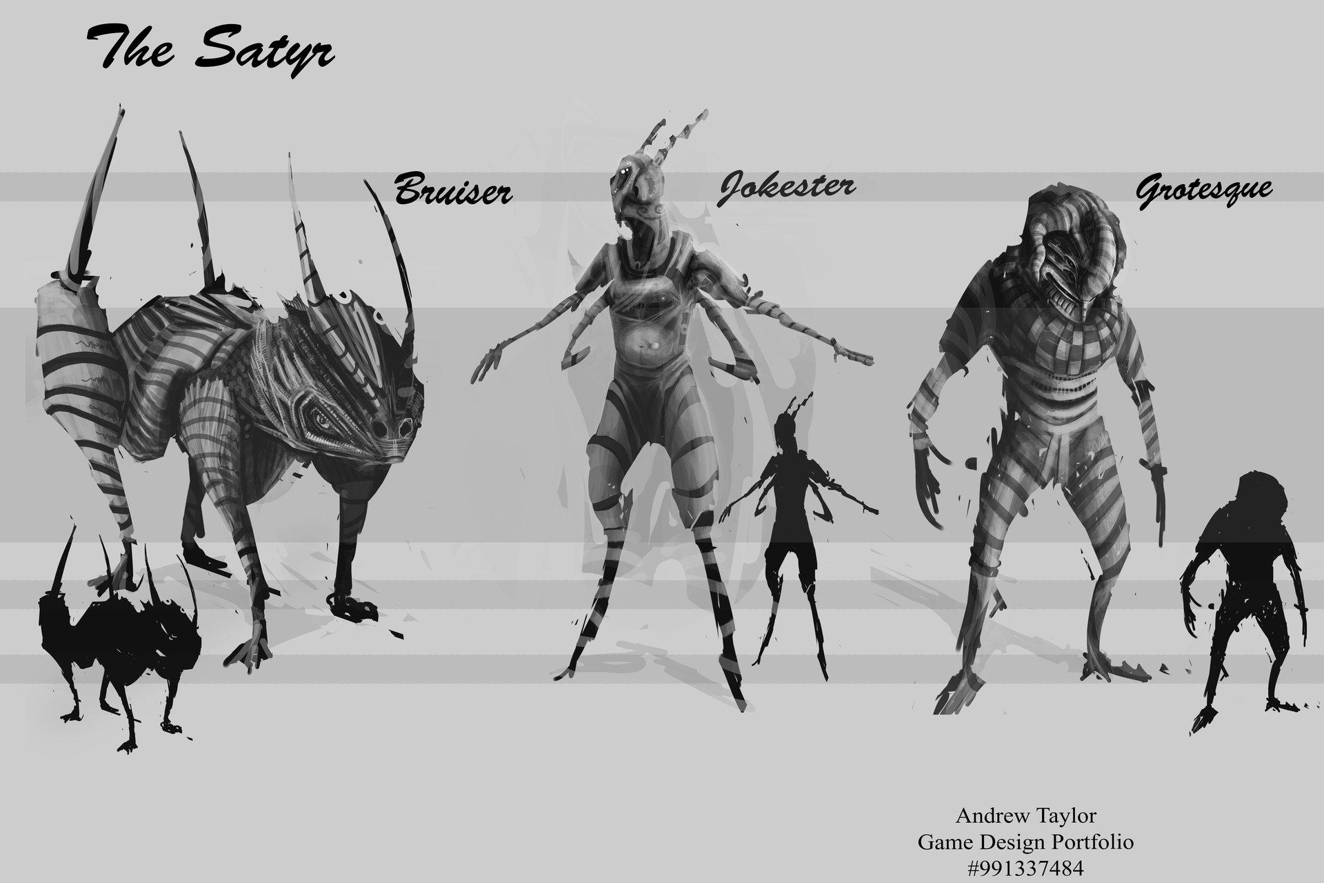 Andrew Taylor Free Design Satyr - Game design portfolio