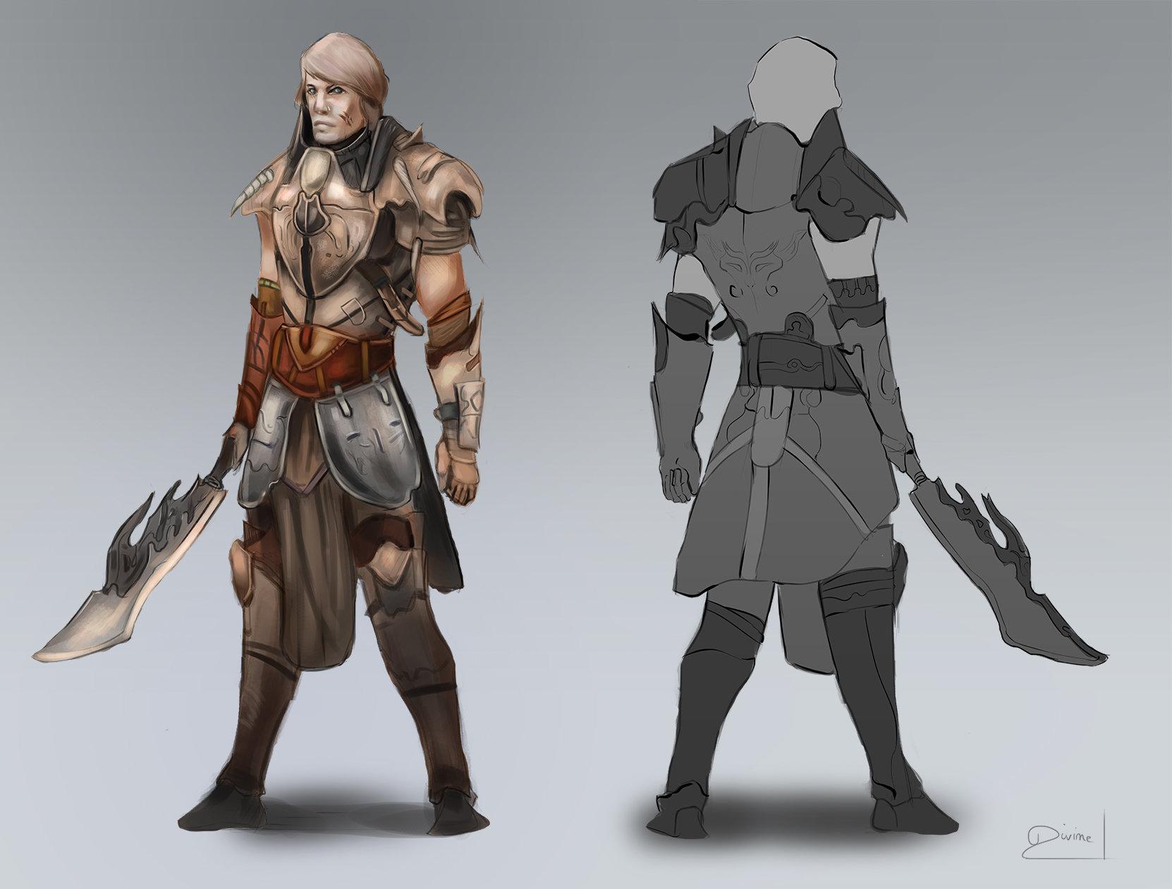 Jason Chan Character Design Download : Artstation warrior concept art divine kataroshie