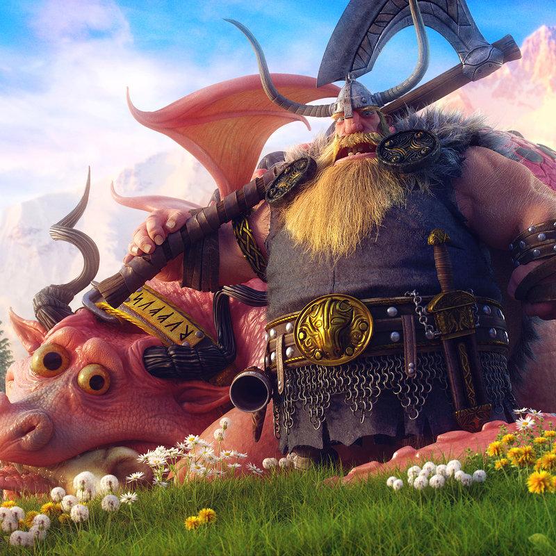 Northern Viking with his loyal friend Ruffus