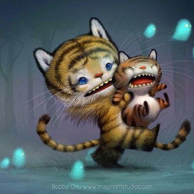 Bobby chiu big cats don t cry by imaginism d75vt09