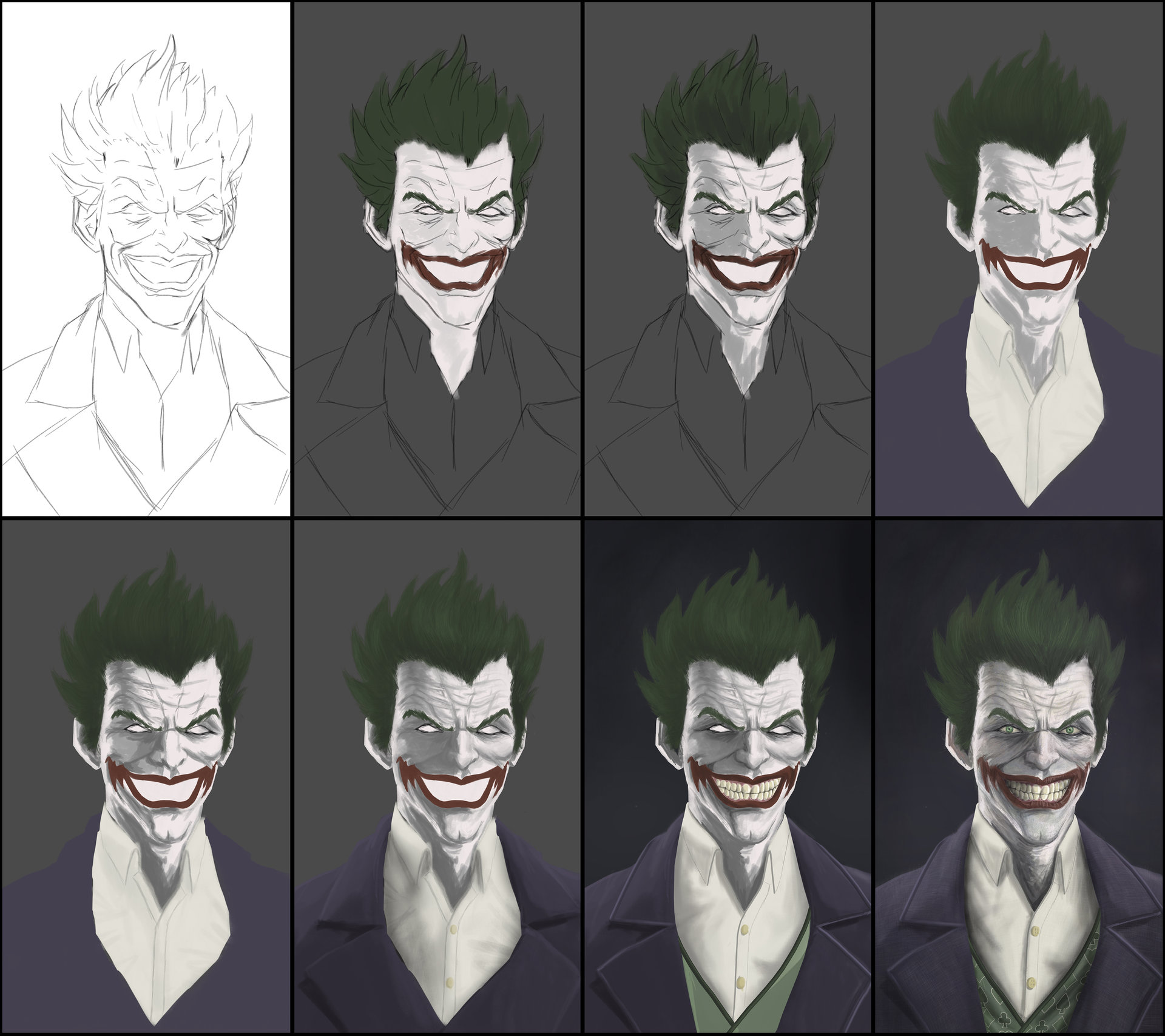 Artstation the joker batman arkham origins aditya parab voltagebd Image collections