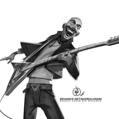 Nasrul hakim doodle guitarist v01 custom