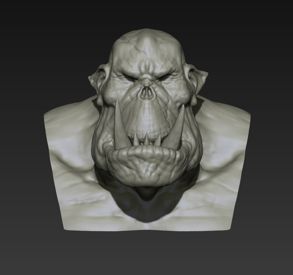 Toby hynes orc bust sketch 02