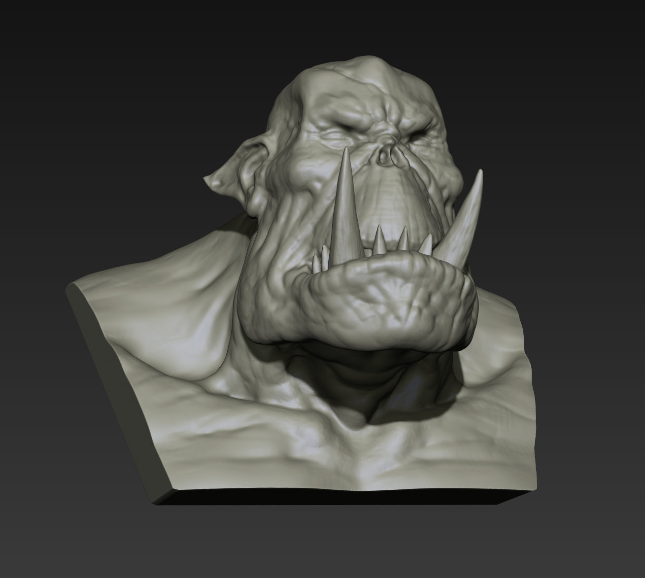 Toby hynes orc bust sketch 05