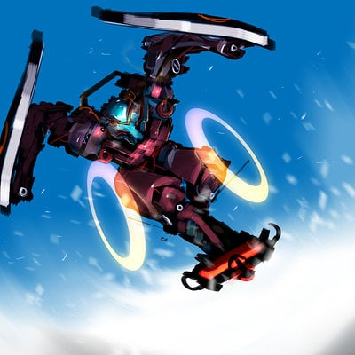 Benedick bana sci fi snowboardning