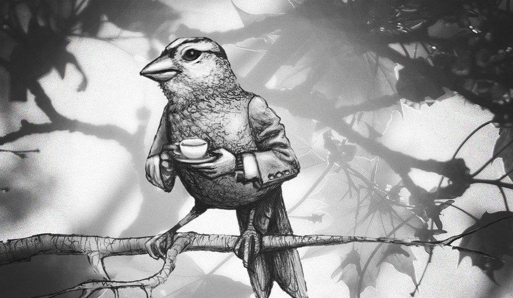 Grey hash bird