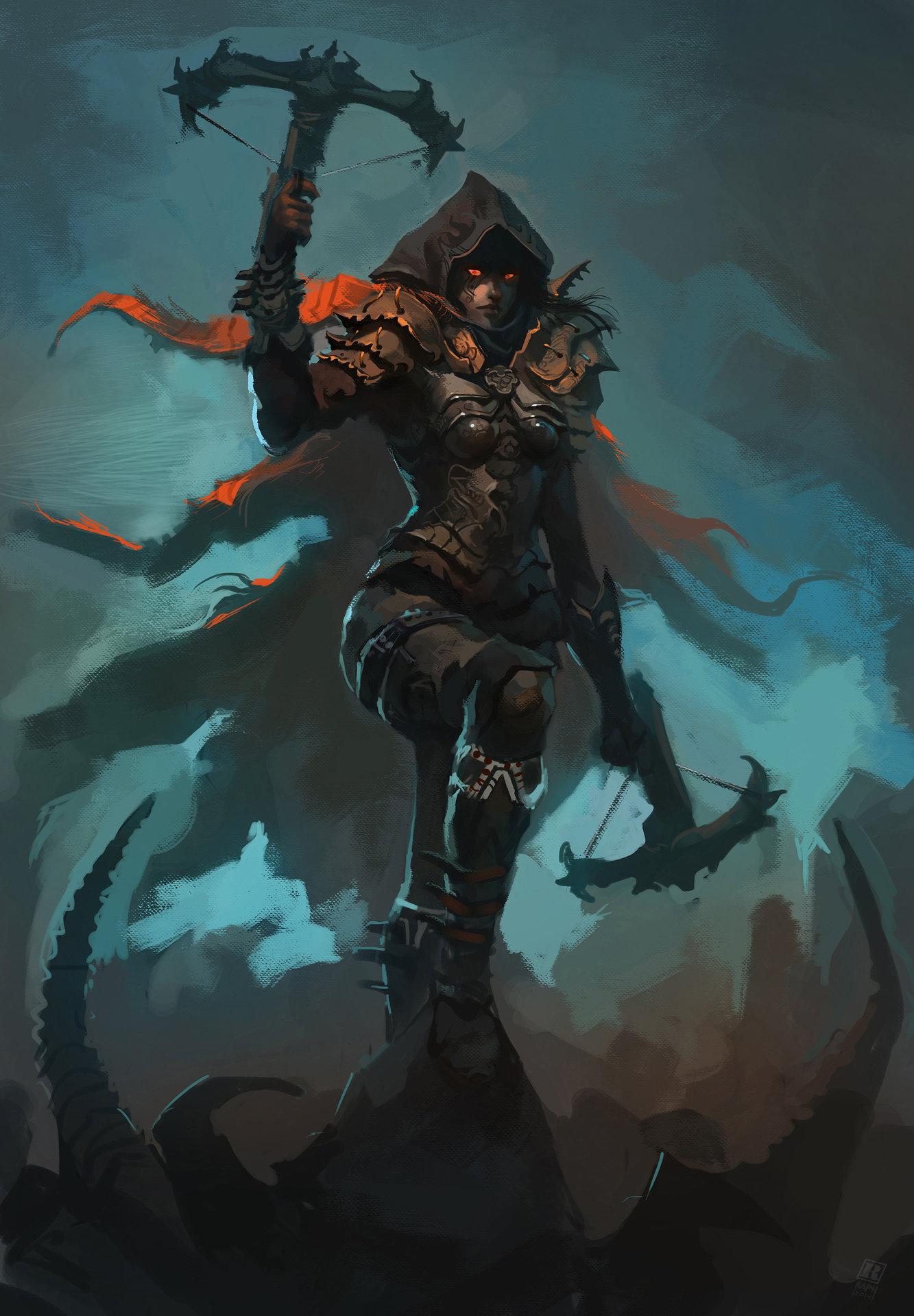 Raph lomotan demon hunter diablo iii by raph04art d79tdbs