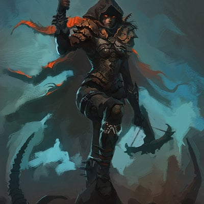 Raph lomotan demon hunter diablo iii by raph04art d79tdbs