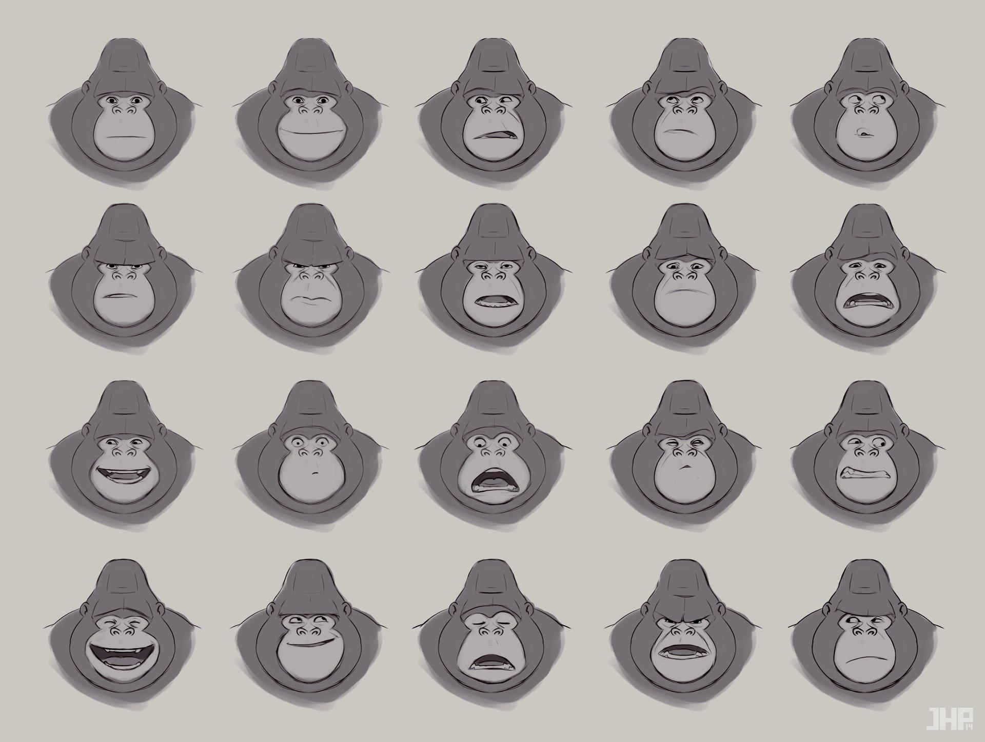 Joao henrique pacheco gorila expression sheet