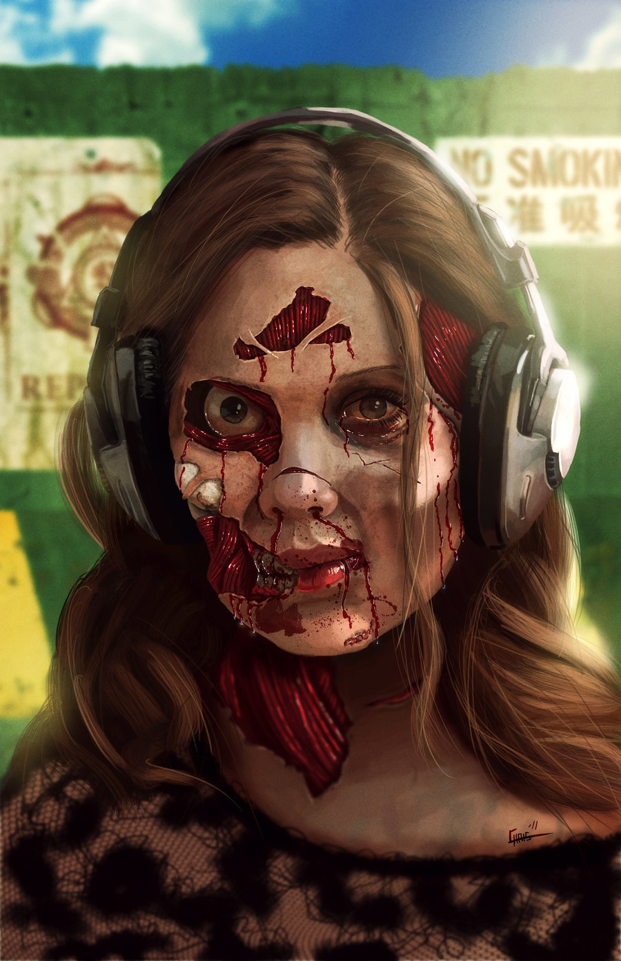 Chris shehan zombie chick by zhourules d4crabv