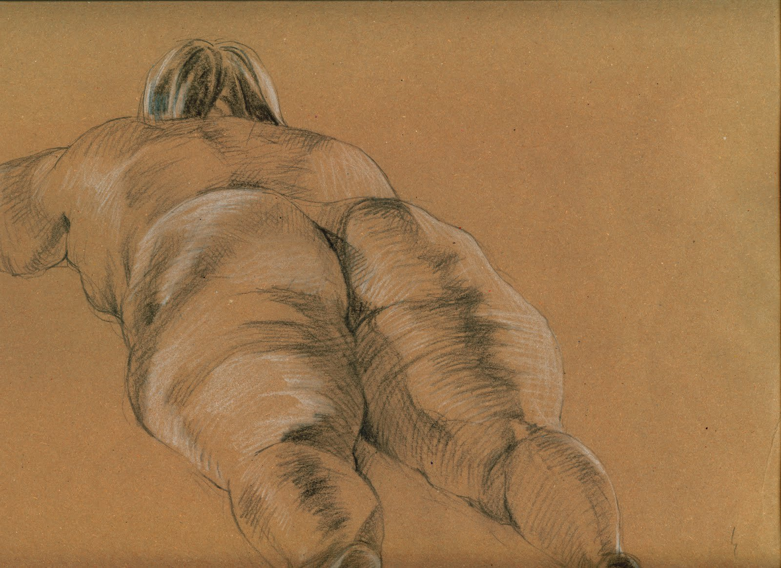 Qianqian liu life drawing lying
