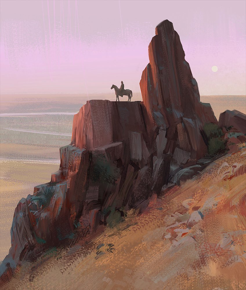 Hugo puzzuoli cowboy landscape hpuzzuoli